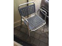 Aluminium outdoor plastic chairs