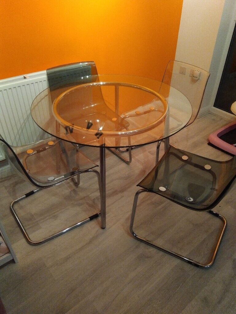 IKEA Glass round dining table | in Westbury, Wiltshire ...
