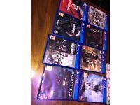 PS4 8 Games Bundle: Injustice 2, For Honour, Mass Effect: Andromeda, Metal gear: Phantom Pain,etc.