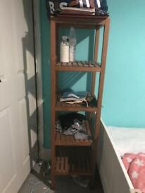 IKEA wooden shelf unit