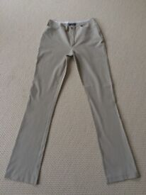 JOSEPH STONE COLOUR TROUSERS (SIZE MEDIUM)