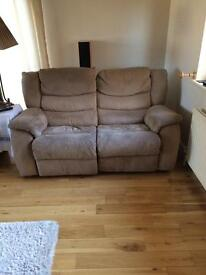 Two seater sofa recliners