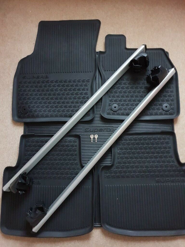 Superb Iii Estate 2016 2018 Roof Bars Rubber Mats Rubber Boot