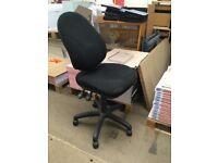 Black Fabric Swivel Office Chair