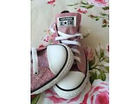 🌷Ladies sparkly pink converse all star 🌷