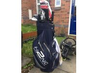 Taylormade TP MC Irons, like new. Driver, 3 wood, rescue, putter 2 bags and a trolley all immaculate