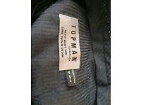 Topman Ultra skinny black suit trousers size 30 waist x32length.Small