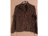 Ladies leopard print fleece size 12 M&S