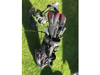 Golf clubs full starter set with stand and wheels