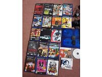 Ps2 and 18 games 1 controller and dvd remote