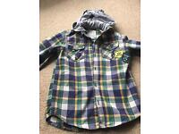Boys Mantaray Hooded Shirt - Aged 8 Years