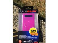 Powerbank 4000mAh BRAND NEW (pink)