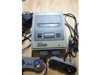 Super Nintendo Supernintendo Snes Console with 2 Controllers