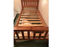 Single bed frame - solid pine frame