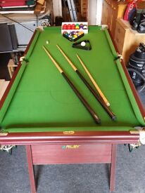 Riley 6ftx 3ft Snooker table.