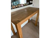 Barker and Stonehouse Solid Oak Hannover Breakfast Dining Table