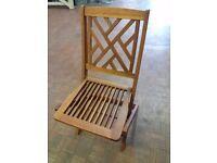 Box of Two Hardwood Garden Chairs