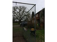 Fruit or chicken cage 2.5 x2.3 m. Easy to put up, screws,netting,ties.One careful owner,