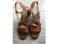 M&S Brown Wedge Sandles