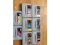 Classic Super Nintendo with 8 games including 2 super mario