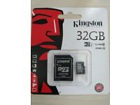 New Kingston 32 GB micro card Class 10 Only £6