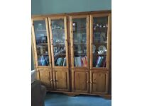 Ducal pine large bookcase and cupboards £100