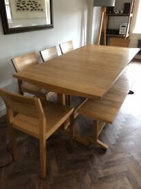 Solid wood dining table and 5 chairs £200 must pick up