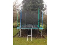 Rectangular Trampoline 11.8 x 6.3 feet with Safety Net, Cover & Instructions