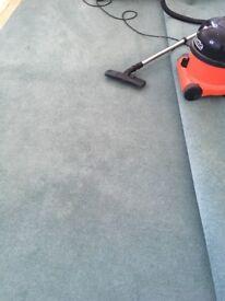 Lovely BlueGreen Winton Hessian Backed Carpet