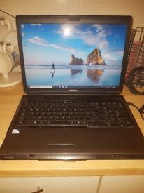 Toshiba Satellite L350 Grey (232GB HDD, 17 inch Screen, Windows 10, Included Charger, New Battery)