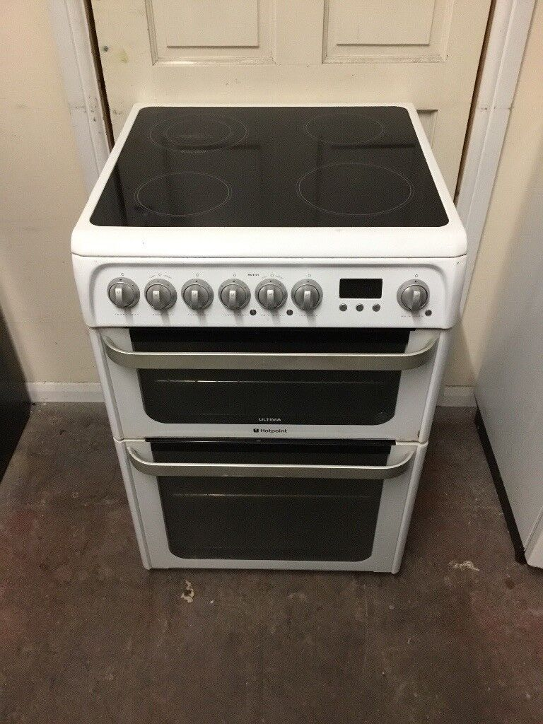 Hotpoint Ultima Electric Cooker 60cm Ceramic Double Oven 3 Months Collection Ovens Single Lamona Conventional Warranty Free Local Delivery