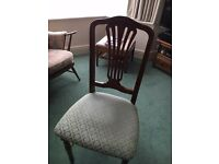 Circular Extending Cherry Table and 4 Matching Chairs
