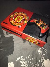 Xbox one with Manchester United wrap