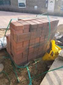 Approx 100 brindle block pavers un-used new.