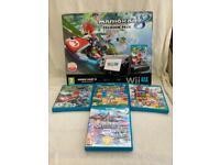 Nintendo Wii U Mario Kart 8 Edition with 3 Games