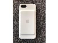 iPhone 7 white smart battery case