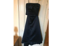 Watters and Watters navy two-piece bridesmaid dress. Size 16.