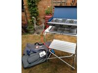Camping gas camping chef cooker and Elite kitchen unit