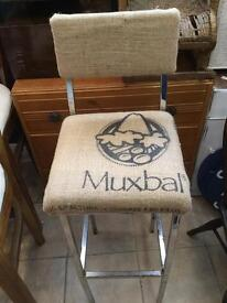 4 hessian sack covering bar stools