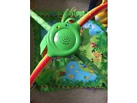 Fisher price music and lights rainforest baby gym