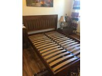 King size acacia bed frame brand new (delivery)