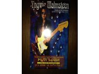 Yngwie Malmsteen play loud classical styling guitar instruction video