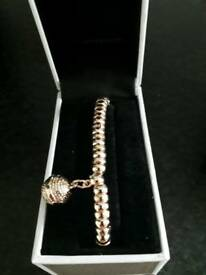 Beautiful Rose gold toneAustin Woods Braclet and Charm