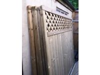 European tongue and groove and trellis top panels 6ft high