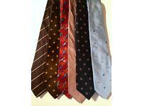 6 Silk Designer Ties (Paul Smith, Boss, etc)