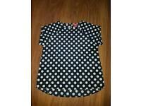 Spotty blouse top