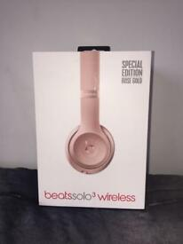 Beats by Dr. Dre Solo3 Wireless Headband Headphones - Rose Gold Limited Edition