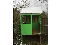 Wood outdoor play house / den