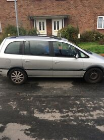 Vauxhall Zafira selling as spares and repairs