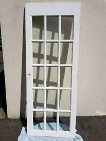 Hard wood glazed internal door